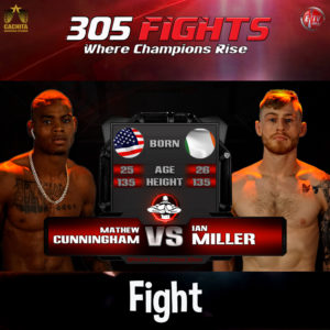 Cunningham vs Miller Fight Card THUMBNAIl